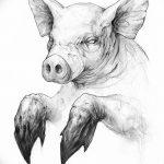 фото Эскизы тату свинья (кабан) от 26.09.2017 №065 - Sketches of a pig - tatufoto.com