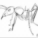 фото Эскиз тату муравей от 07.09.2017 №007 - Sketch of an ant tattoo - tatufoto.com