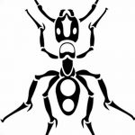 фото Эскиз тату муравей от 07.09.2017 №068 - Sketch of an ant tattoo - tatufoto.com