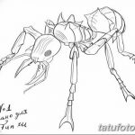 фото Эскиз тату муравей от 07.09.2017 №075 - Sketch of an ant tattoo - tatufoto.com