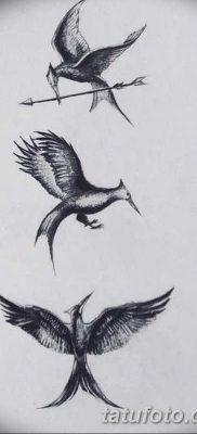 фото тату Сойка пересмешница от 25.09.2017 №002 – Tattoo Hunger Games – tatufoto.com