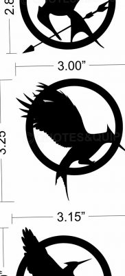 фото тату Сойка пересмешница от 25.09.2017 №040 – Tattoo Hunger Games – tatufoto.com