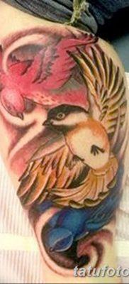 фото тату Сойка пересмешница от 25.09.2017 №050 – Tattoo Hunger Games – tatufoto.com