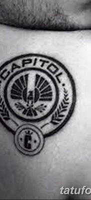 фото тату Сойка пересмешница от 25.09.2017 №069 – Tattoo Hunger Games – tatufoto.com