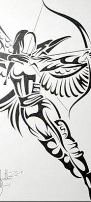 фото тату Сойка пересмешница от 25.09.2017 №073 – Tattoo Hunger Games – tatufoto.com