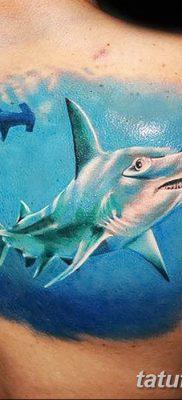 фото тату акула-молот от 25.09.2017 №033 – tattoo hammerhead shark – tatufoto.com