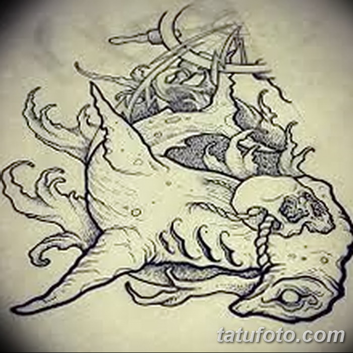 фото тату акула-молот от 25.09.2017 №036 - tattoo hammerhead shark - tatufoto.com
