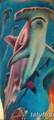 фото тату акула-молот от 25.09.2017 №060 – tattoo hammerhead shark – tatufoto.com