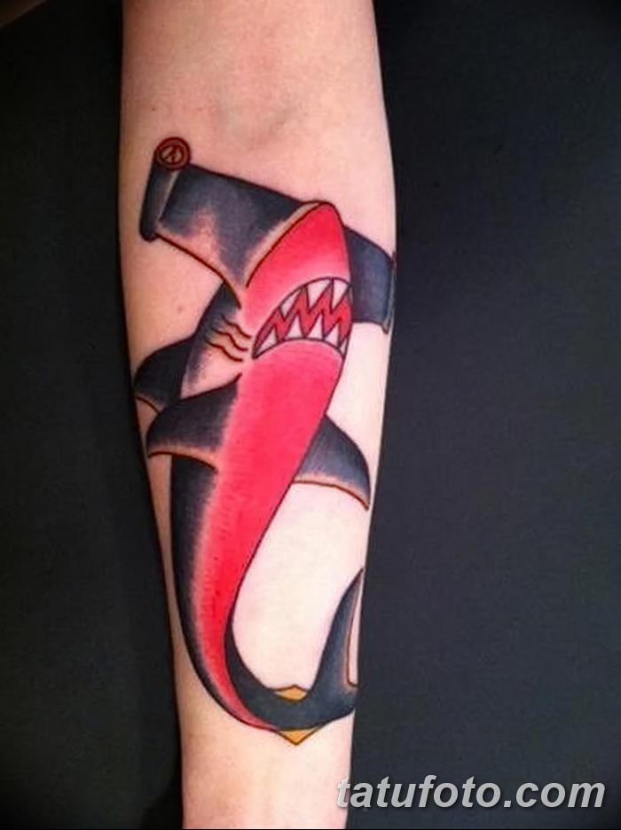 фото тату акула-молот от 25.09.2017 №088 - tattoo hammerhead shark - tatufoto.com
