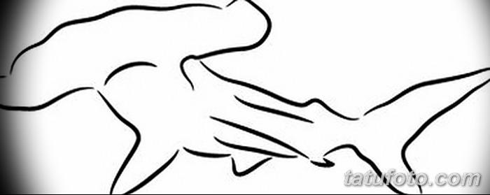 фото тату акула-молот от 25.09.2017 №091 - tattoo hammerhead shark - tatufoto.com