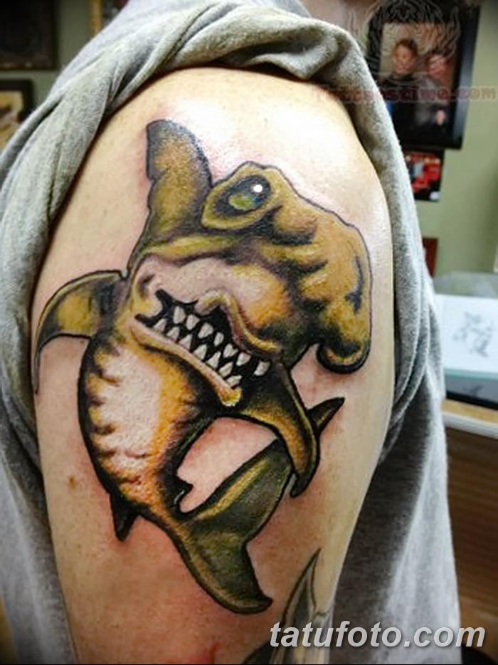 фото тату акула-молот от 25.09.2017 №094 - tattoo hammerhead shark - tatufoto.com