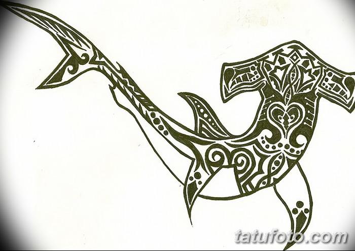 фото тату акула-молот от 25.09.2017 №103 - tattoo hammerhead shark - tatufoto.com