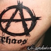 Значение тату «анархия»