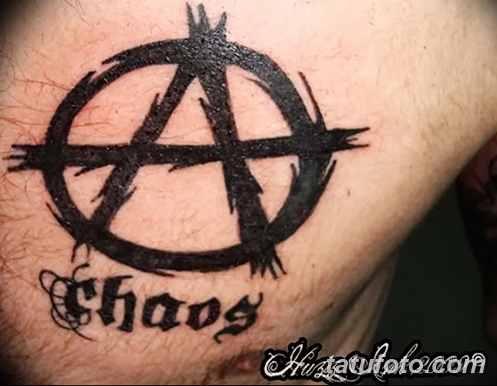 татуировки со знаком анархии для девушек