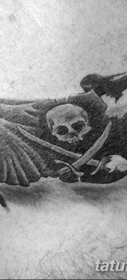 фото тату веселый Роджер от 22.09.2017 №001 – tattoo Jolly Roger – tatufoto.com