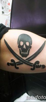 фото тату веселый Роджер от 22.09.2017 №013 – tattoo Jolly Roger – tatufoto.com