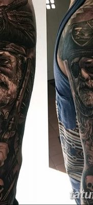 фото тату веселый Роджер от 22.09.2017 №030 – tattoo Jolly Roger – tatufoto.com