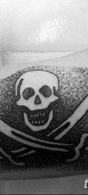 фото тату веселый Роджер от 22.09.2017 №032 – tattoo Jolly Roger – tatufoto.com