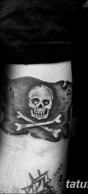 фото тату веселый Роджер от 22.09.2017 №043 – tattoo Jolly Roger – tatufoto.com