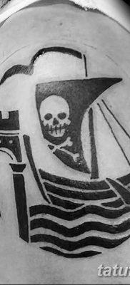 фото тату веселый Роджер от 22.09.2017 №051 – tattoo Jolly Roger – tatufoto.com