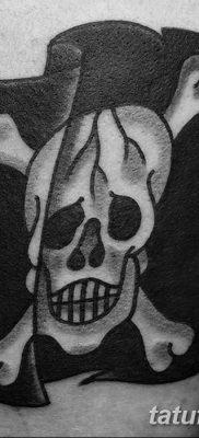 фото тату веселый Роджер от 22.09.2017 №071 – tattoo Jolly Roger – tatufoto.com