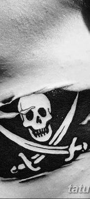 фото тату веселый Роджер от 22.09.2017 №072 – tattoo Jolly Roger – tatufoto.com