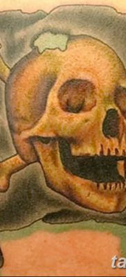 фото тату веселый Роджер от 22.09.2017 №082 – tattoo Jolly Roger – tatufoto.com