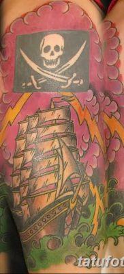 фото тату веселый Роджер от 22.09.2017 №083 – tattoo Jolly Roger – tatufoto.com