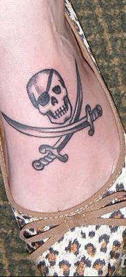 фото тату веселый Роджер от 22.09.2017 №085 – tattoo Jolly Roger – tatufoto.com
