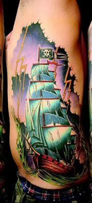 фото тату веселый Роджер от 22.09.2017 №090 – tattoo Jolly Roger – tatufoto.com