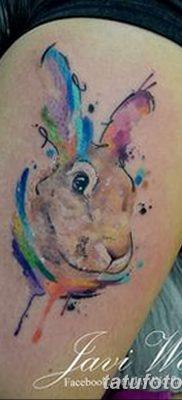 фото тату заяц от 02.09.2017 №001 – tatoos hare – tatufoto.com