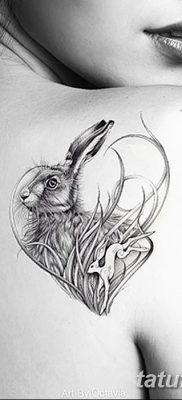 фото тату заяц от 02.09.2017 №002 – tatoos hare – tatufoto.com