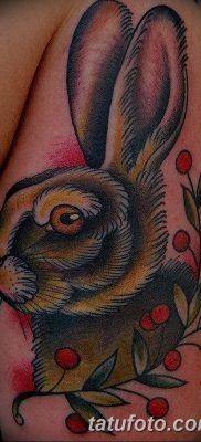 фото тату заяц от 02.09.2017 №006 – tatoos hare – tatufoto.com