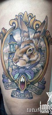 фото тату заяц от 02.09.2017 №008 – tatoos hare – tatufoto.com