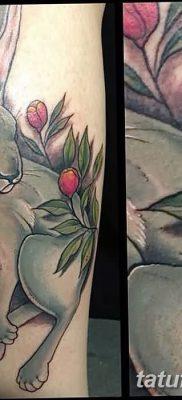 фото тату заяц от 02.09.2017 №010 – tatoos hare – tatufoto.com