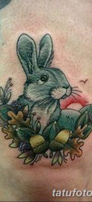 фото тату заяц от 02.09.2017 №015 – tatoos hare – tatufoto.com