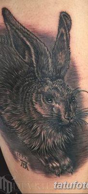 фото тату заяц от 02.09.2017 №021 – tatoos hare – tatufoto.com