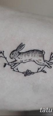 фото тату заяц от 02.09.2017 №026 – tatoos hare – tatufoto.com