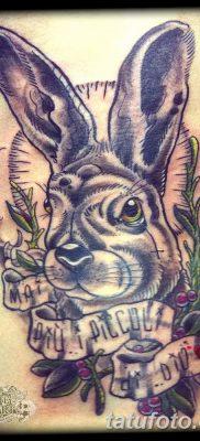 фото тату заяц от 02.09.2017 №032 – tatoos hare – tatufoto.com