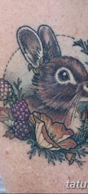 фото тату заяц от 02.09.2017 №038 – tatoos hare – tatufoto.com