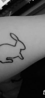 фото тату заяц от 02.09.2017 №039 – tatoos hare – tatufoto.com