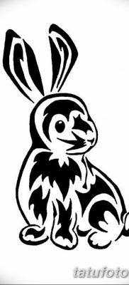 фото тату заяц от 02.09.2017 №045 – tatoos hare – tatufoto.com