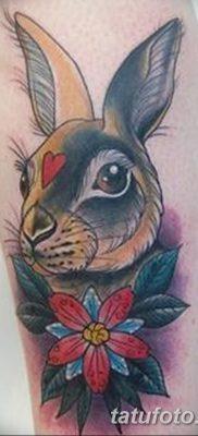 фото тату заяц от 02.09.2017 №048 – tatoos hare – tatufoto.com