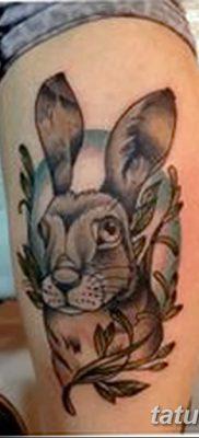 фото тату заяц от 02.09.2017 №051 – tatoos hare – tatufoto.com