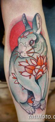 фото тату заяц от 02.09.2017 №053 – tatoos hare – tatufoto.com