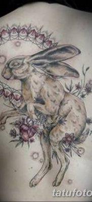 фото тату заяц от 02.09.2017 №061 – tatoos hare – tatufoto.com