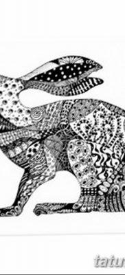 фото тату заяц от 02.09.2017 №067 – tatoos hare – tatufoto.com