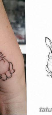 фото тату заяц от 02.09.2017 №074 – tatoos hare – tatufoto.com