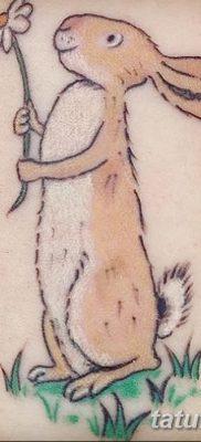 фото тату заяц от 02.09.2017 №087 – tatoos hare – tatufoto.com