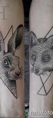 фото тату заяц от 02.09.2017 №088 – tatoos hare – tatufoto.com